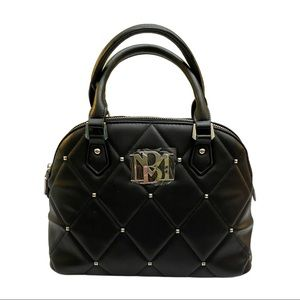 Badgley Mischka Big Quilted Dome Bag with Studs